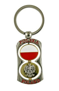 Polska Metal Double Spinner Keychain - Taste of Poland