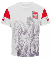 Polska Eagle Athletic Soccer Jersey Shirt