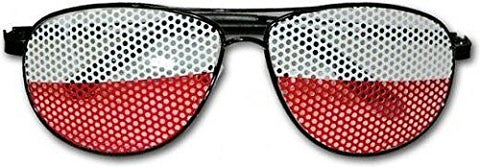 Polska White and Red Soccer Fan Day Shades Sunglasses