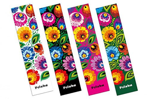 Polish Floral Folk Art Bookmark - Taste of Poland  - 1