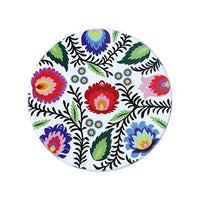 Polish Folk Art Floral Ceramic Coaster