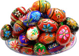 Polish Easter Handpainted Wooden Eggs (Pisanki), Set of 6
