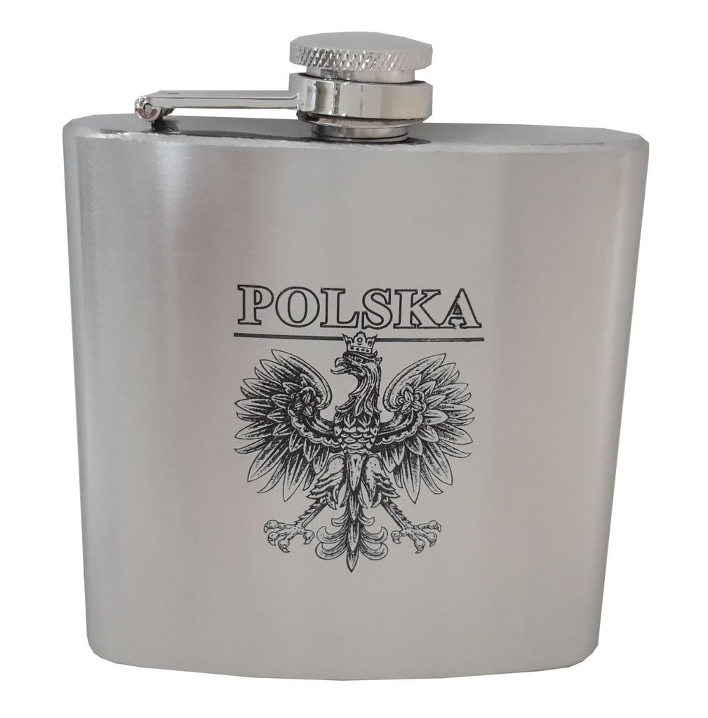 Polska Eagle Stainless Steel Flask 6oz - Taste of Poland