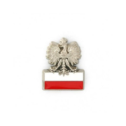 Polish Eagle on Red & White Flag - Lapel Pin - Taste of Poland