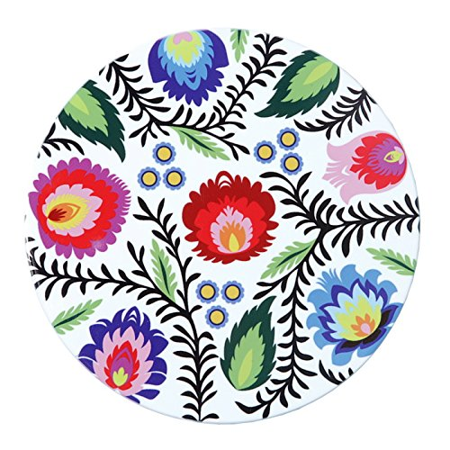Polish Folk Art Floral Ceramic Trivet