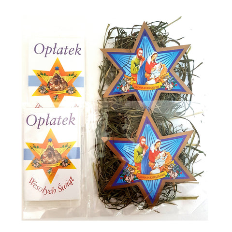 Set of 2 Mini Christmas Wafers & Hay (Oplatek & Sianko) - Taste of Poland
