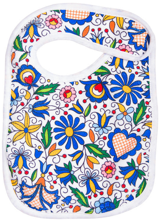 Polish Kashubian Folk Art Baby Bib - Taste of Poland  - 1
