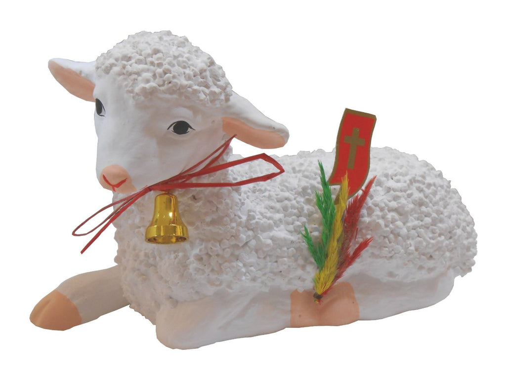 "Polish Large Laying Easter Lamb (Baranek Wielkanocny), 7.5"" Long - Taste of Poland  - 1"