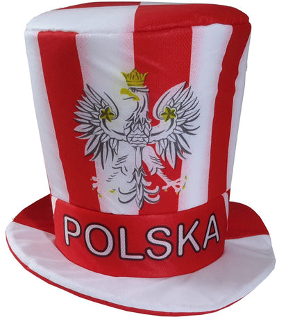 Polska Eagle Sport Soccer Fan Cylinder Hat - Taste of Poland