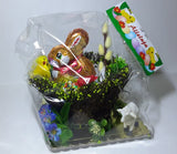 Polish Decorative Gift Basket with Chocolate Easter Bunny and Egg - Taste of Poland  - 2