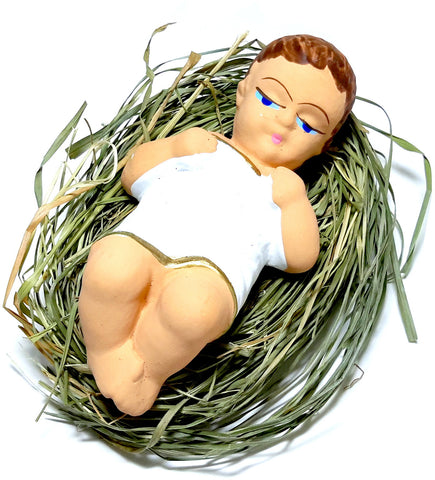 "4"" Baby Jesus Laying on Natural Hay - Taste of Poland"