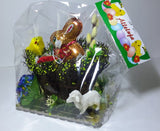 Polish Decorative Gift Basket with Chocolate Easter Bunny and Egg - Taste of Poland  - 3
