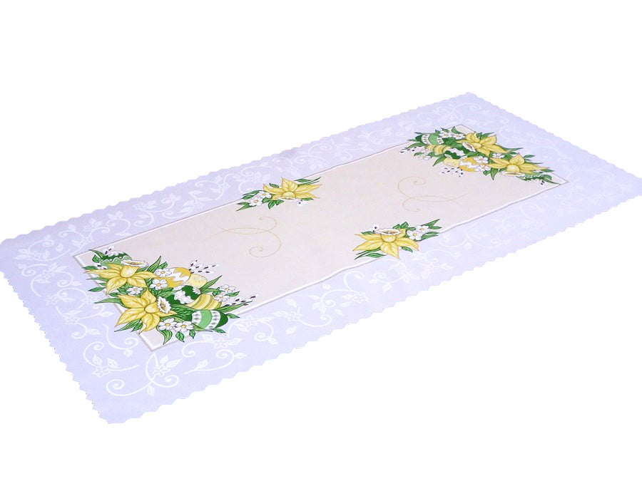 "Polish Traditional Easter Eggs Table Runner 37""x18"""