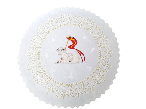 Polish Traditional Easter Lamb Doily Basket Cover