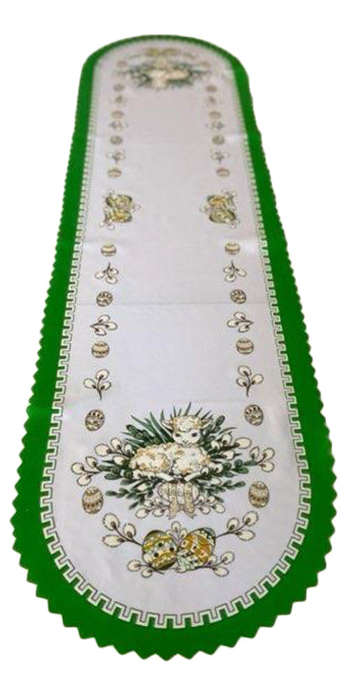 "Polish Traditional Easter Lamb Table Runner 53""x14"""