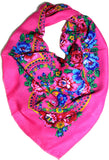 Traditional Polish Folk Head Scarf - Pink - Taste of Poland  - 1