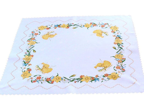Polish Traditional Easter Chicks Square Table Linen Topper