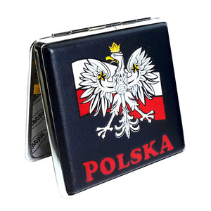 Polska Poland Eagle on Flag Cigarette Case