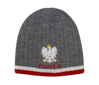 Knitted Polska Winter Hat with White Eagle