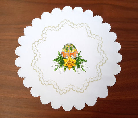 Polish Traditional Easter Egg Doily basket Cover - Taste of Poland