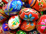 Set of 3 Polish Easter Handpainted Wooden Eggs (Pisanki) - Taste of Poland  - 2