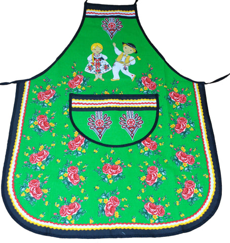 Polish Folk Art Highlander Kitchen Apron