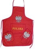 Red Poland Polska Eagle Polish Barbeque BBQ Apron Oven Glove and Pad Set New