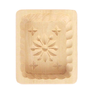 Wooden Butter Mold Christmas Snowflake
