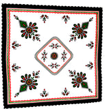 Polish Highlander Parzenica Design Square Table Topper