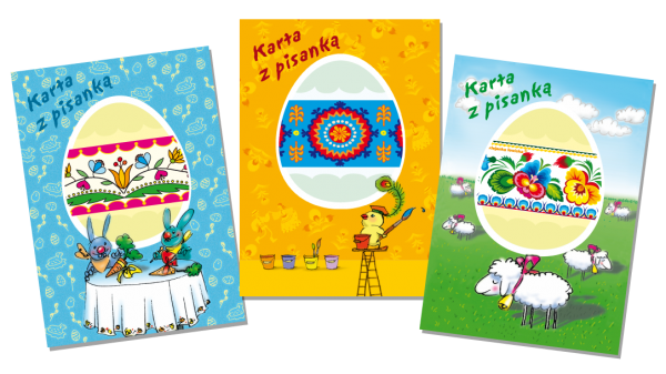 Polish Easter Cards with Easter Egg Wrap, Set of 3