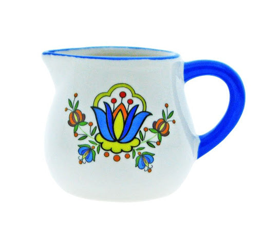 Polish Kashubian Folk Art Small Ceramic Jug