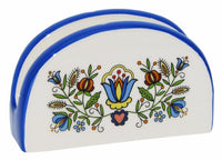Polish Kashubian Folk Art Small Ceramic Napkin Holder