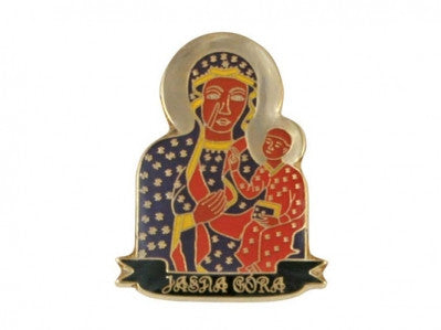 Black Madonna of Czestochowa Lapel Pin