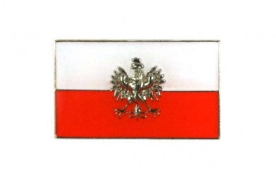 Polish Eagle on the Flag of Poland Lapel Pin