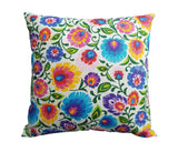 Polish Lowicz Folk Art Accent Pillow Case