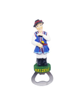 Polish Kashubian Male Figure Folk Art Bottle Opener Magnet