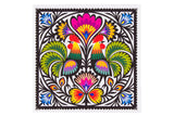Polish Folk Art Lowicz Roosters Napkins, Set of 20