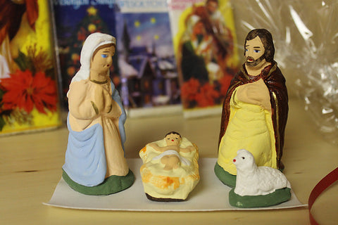 4-Piece Mini Christmas Nativity Set Figurines - Taste of Poland  - 1
