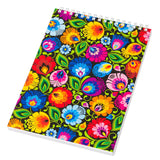 Polish Folk Art Large Spiral Notebook