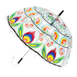 Polish Folk Art Transparent Umbrella