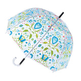 Polish Kashubian Folk Art Transparent Umbrella