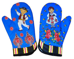 Polish Folk Art Highlander 2 Oven Mitts