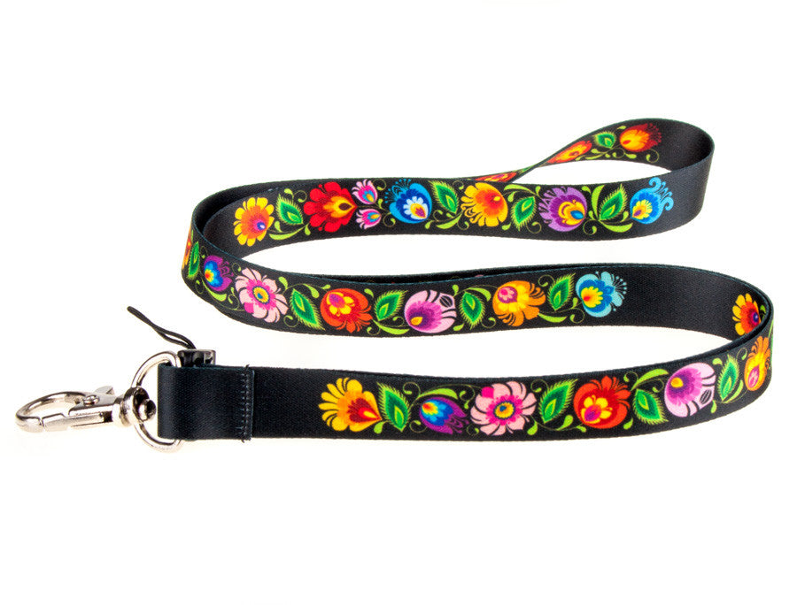 Polish Folk Art Thin Neck Strap Lanyard