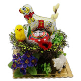 Polish Decorative Gift Basket with Chocolate Easter Lamb and Egg
