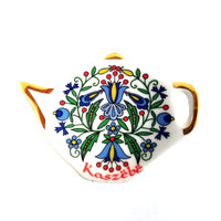 Polish Folk Art Kashubian Ceramic Tea Bag Saucer