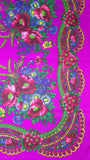 Traditional Polish Ukrainian Folk Cotton Head Scarf - Pink - Taste of Poland  - 2