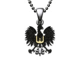 Traditional Polish Eagle Silver Pendant with Gold Plated Enrichment - Taste of Poland  - 3