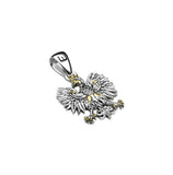Traditional Polish Eagle Silver Pendant with Gold Plated Enrichment - Taste of Poland  - 2