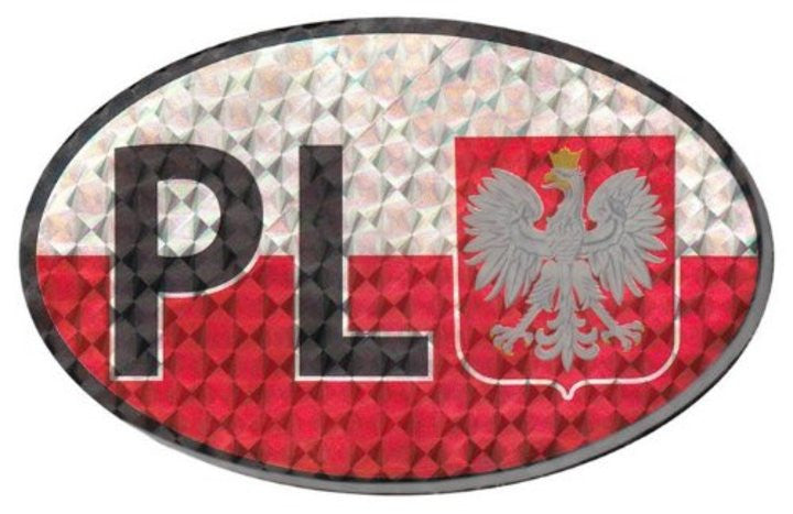 Reflective Sticker - White Eagle & PL - Taste of Poland