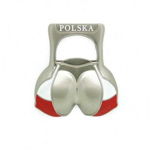 Bikini Top Shaped Beer Bottle Opener & Magnet - Taste of Poland